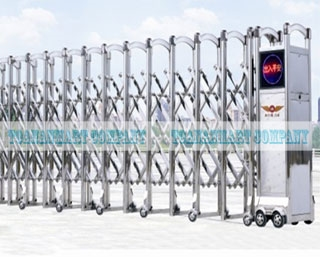 Cổng xếp tự động cho nhà máy, xí nghiệp